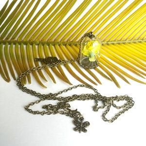 Jewelry - Beauty and the Beast Long Necklace Yellow Rose
